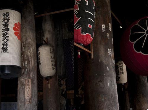 Lanternes à l'intérieur du Kinpusen-ji