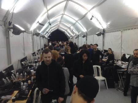 Backstage make up et coiffure