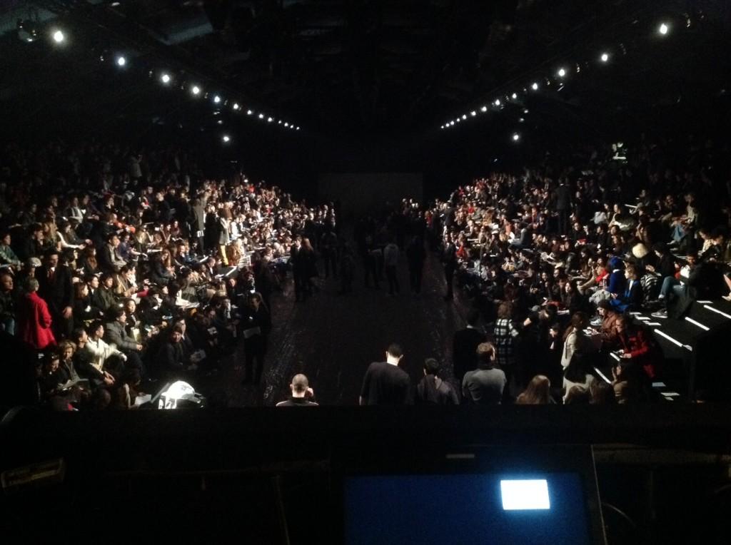 Backstage Issey Miyake aw 2014