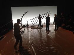 Montage de la scène et du Catwalk
