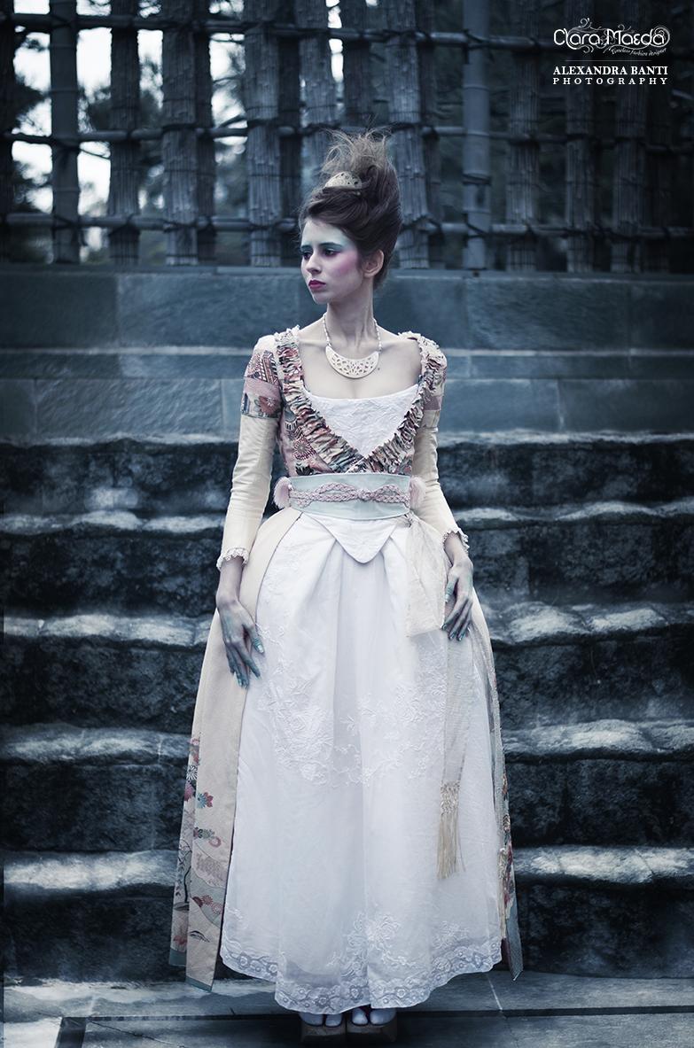rococo kimono dress, japanese Marie-Antoinette