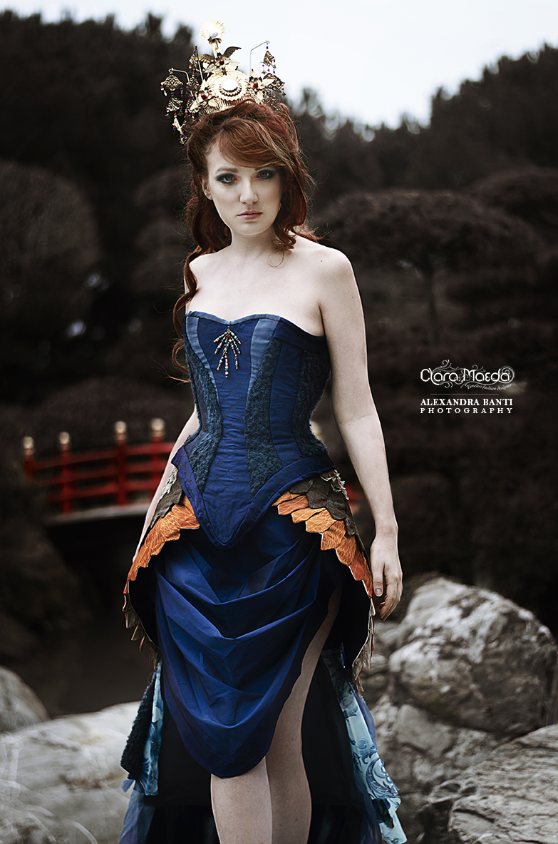 robe paon, peacock dress