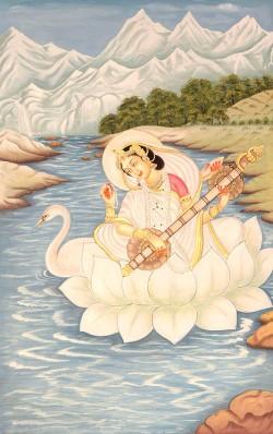 La déesse Saraswati