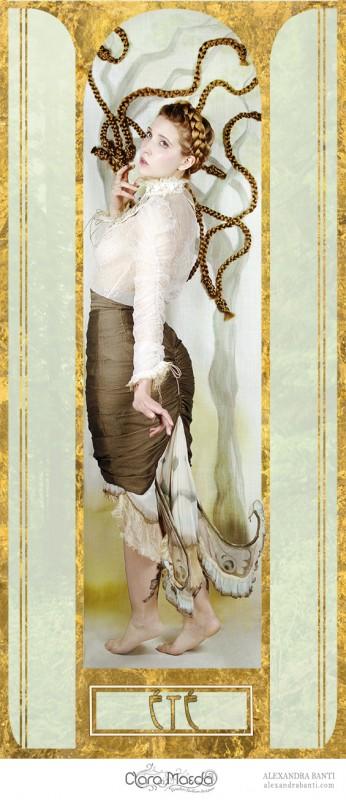 art nouveau fashion, clara maeda