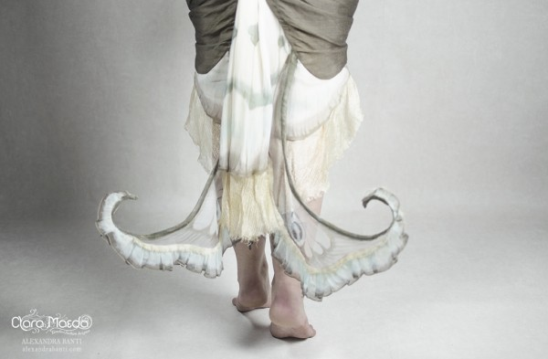 butterfly wing dress, clara maeda
